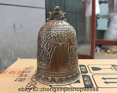 Tibet old Copper Bronze Music Guanyin fairy Angel Goddess Buddhism Temple Bell
