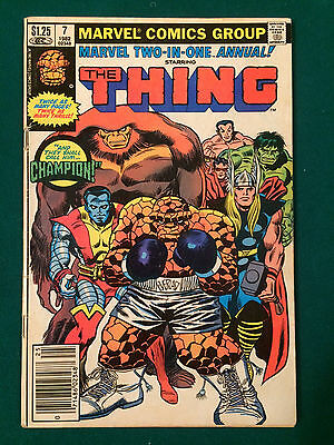Marvel Two In One Annual #7 1St Champion Infinity Gem Key