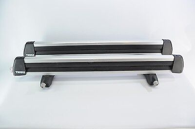 Thule 92725 Universal Flat Top Carrier with Locks 6 Skis or 4 Snowboards