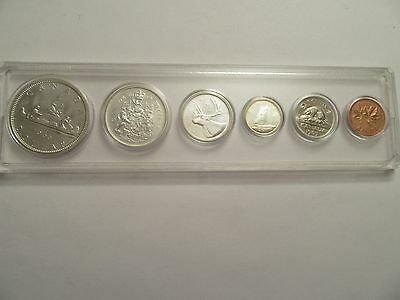 1965 Royal Canadian Mint Proof-Like 6 coin set, 80% silver, acrylic holder