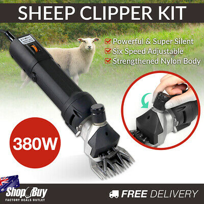Electric Sheep Shearing Clipper Kit Alpaca Goats Farm Grooming Shears Set 380W