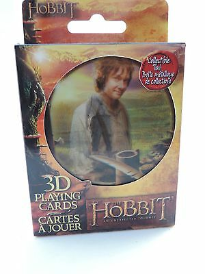 The Hobbit 3D Playing Cards Nerdblock New in Collectible Tin
