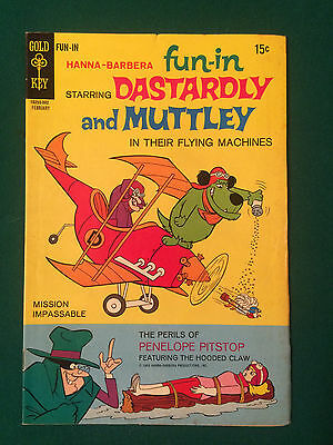 Fun In #1 Gold Key Comic Dastardly And Muttley Penelope Pitstop Hanna Barbera