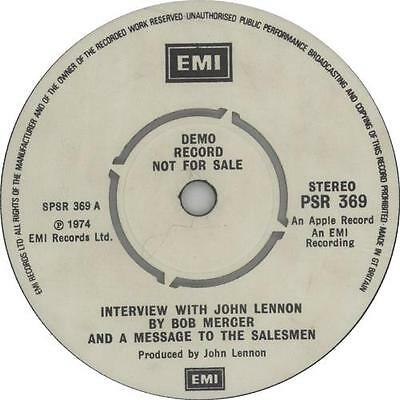 "John Lennon Interview With John Lennon By ... 7""  record UK promo"