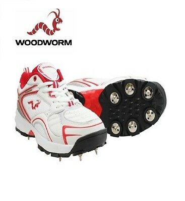 Woodworm Mens Cricket Cricket Shoe with Spikes