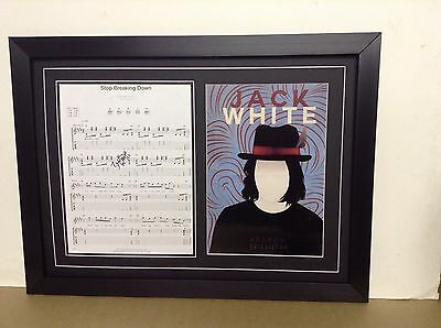 Jack White Hand Signed/Autographed Songsheet with a Poster and COA