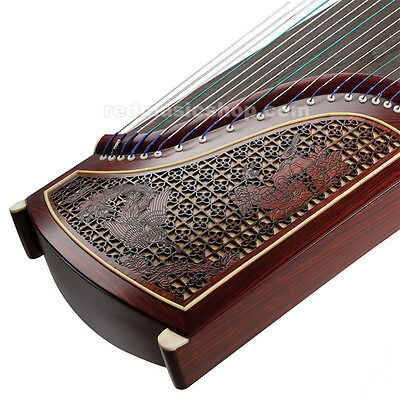 Chinese Rosewood Guzheng, Patterns Selectable, Chinese 21-string Zither