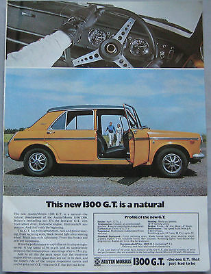 1969 Austin 1300 GT Original advert