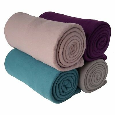 1 x 150cm Fleece Lightweight Yoga / Sport Blanket  - 3 Colours