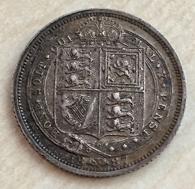 1887 Queen Victoria Silver Sixpence - Jubilee Year (A73)