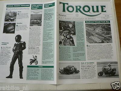 D932 Brochure Mag Triumph Mag Torque Benelux Ete 1999 French 4 Pages Warmond