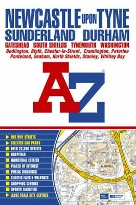 Newcastle upon Tyne Street Atlas (paperback), Good Condition Book, Geographers A