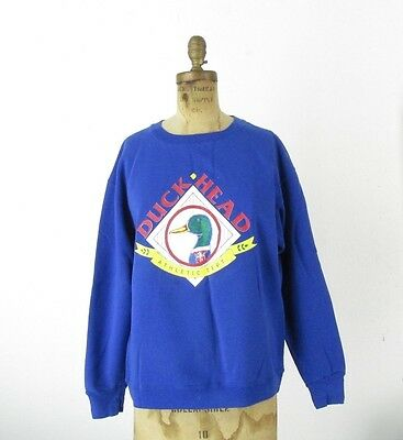 VTG Duck Head Athletic Dept Vintage 90s Crew Neck Sweat Shirt Hilfiger Polo SZ L