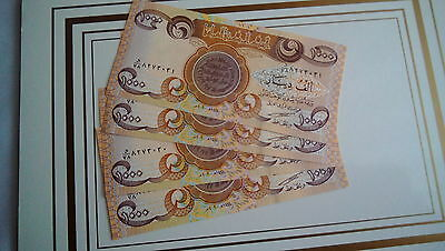 4000 New Iraqi Dinar In Extremely Rare 1000 Dinar Notes