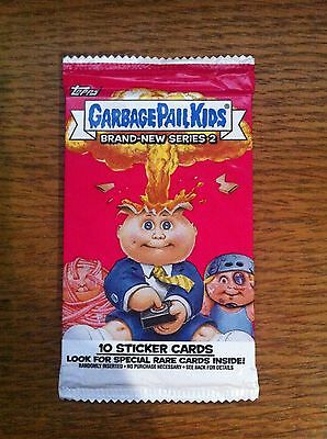 1x Garbage Pail Kids Brand New series 2 Unopened / Sealed Sticker Card Pack BNS2