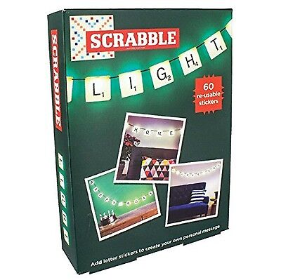 Scrabble Light with 60 re-usable stickers & plug - Same day dispatch