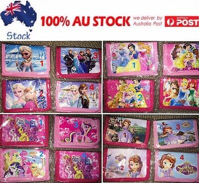 kids girls purse wallet money pouch FORZEN/PRINCESS/MY LITTLE PONY/SOFIA
