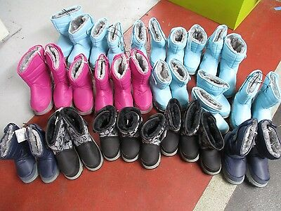 Job Lot of Khombu Childrens Fur Lined Snow Boots - 26 Pairs Boxed