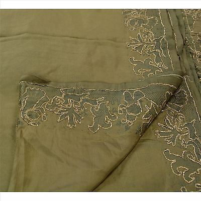 Sanskriti Antique Vintage Indian Saree 100% Pure Silk Hand Embroidered Woven