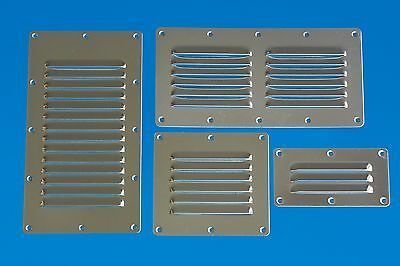 Louvre Vent - Stainless 304 Marine Grade - 127mm x 63.5mm - 3 vents