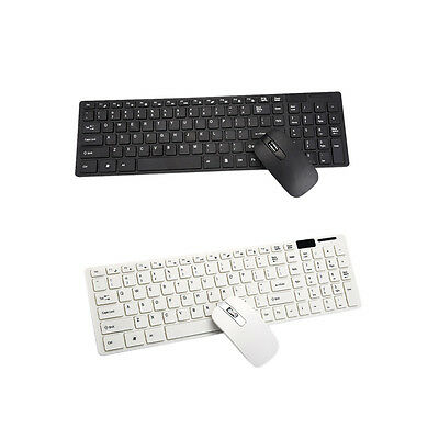 2.4GHz Cordless Wireless Keyboard and Optical Mouse USB Receiver Set PC Desktop