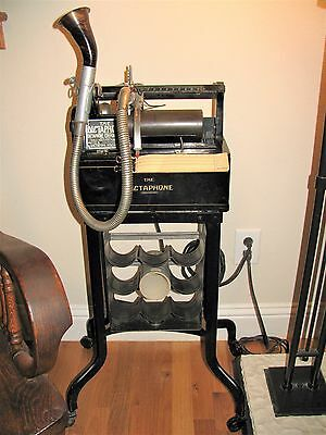 Working Vtg Antique 1925 The Dictaphone Model 10X Type A Dictate & Listen Stand