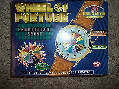 Wheel Of Fortune Collectible Watch Bonus Collectible Tin Case New In Box