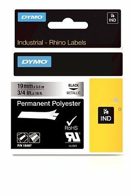 Dymo Rhino 18487 Metallized Polyester Tape - 19mm - S0718200