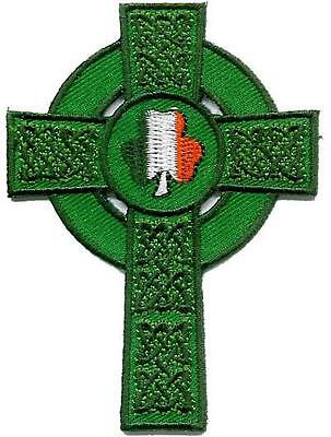 Irish Celtic Cross - Embroidered Irish Crest Patch Badge