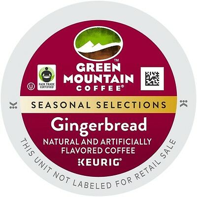 Green Mountain Gingerbread, 100 k cups read description