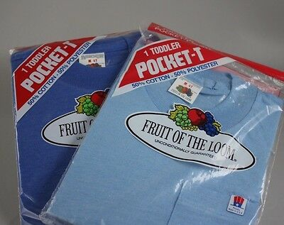 Fruit of the Loom 4T Toddler T Shirts - Vintage Quality Made in the USA 50/50