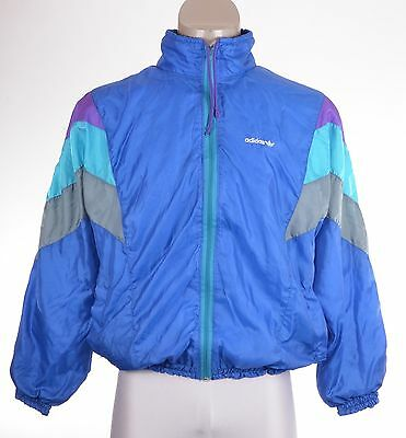 VTG ADIDAS Shell Suit Jacket Retro Rave 80s 90s Sports Top MADE IN WEST GERMANY