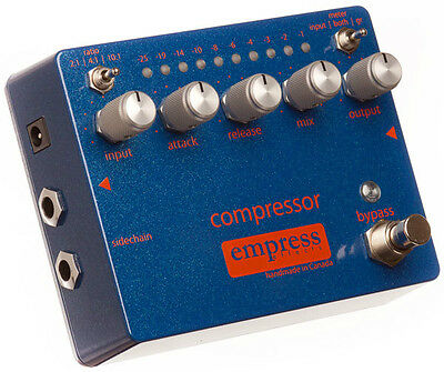 USED EMPRESS EFFECTS COMPRESSOR EFFECTS PEDAL w/ FREE CABLE FREE US SHIPPING!!!
