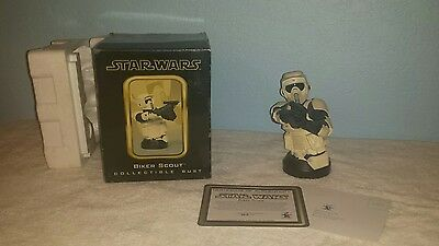 Gentle Giant Biker Scout Mini Bust STAR WARS stormtrooper ROTJ Endor Trooper