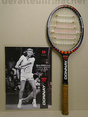 SPAGHETTI vintage 80s *DONNAY Borg Pro* autograph racket, Made in Belgium