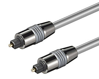 0,5m bis 10m optisches Toslink digital Kabel 6mm + vergoldete Metallstecker LWL