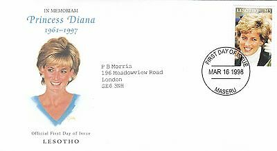 (02015) Lesotho FDC Princess Diana Death 16 March 1998
