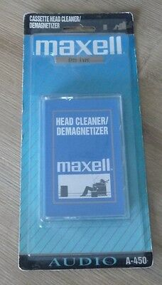 Cassette Tape Factory Sealed Maxell Head Cleaner Demagnetizer A-450