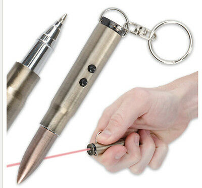 Bullet Laser Pointer Ink Pen and LED Light Keychain Cat Toy