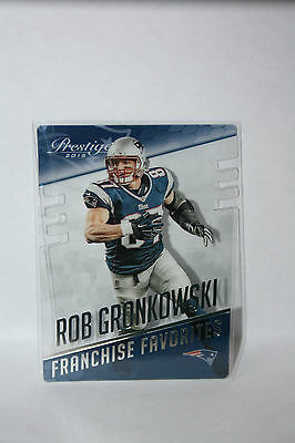 "NFL Panini Prestige ""Rob Gronkowski - New England Patriots"" Clear Vision Card FF"