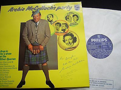 ARCHIE McCULLOCH'S PARTY - PHILIPS 1973 AUTOGRAPHED Corries, Kathie Kay, Pibroch