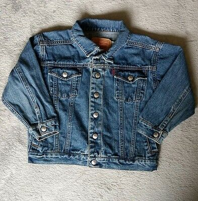 Childrens Vintage Levis Strauss & Co Jean Jacket 5 Blue Kids Coat RETRO Red Tab