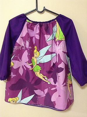 Girls Tinkerbell Art Smock Kid 4-7 With Thermal Backing For Extra Protection