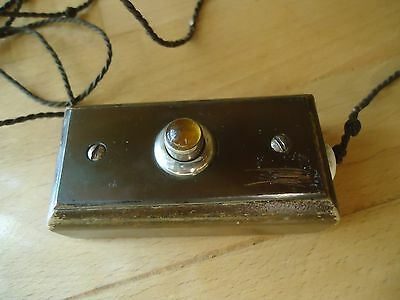 Rare antique electric wooden switch push button servant bell call service