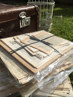 Decoupage Paper Pack - Old Vintage Papers For Crafts, Scrapbooking, Paper Crafts