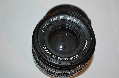 Vintage Canon Fd 50 1:1.8 Lens Made In Japan 35 Mm