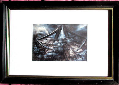 H.R.GIGER >Biomechanoid< HAND-SIGNIERT  Multiple + Rahmen, orig. signed, SELTEN