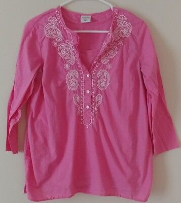 Motherhood Maternity Pink Nursing Top 3/4 Sleeve Size M