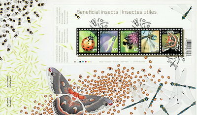 CANADA #2238a BENEFICIAL INSECTS SOUVENIR SHEET FIRST DAY COVER