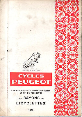 Depliant RAYONS PEUGEOT CYCLES VELO old french vintage bike